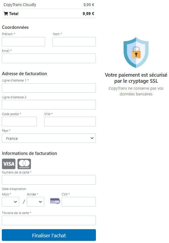 Acheter CopyTrans Cloudly en ligne
