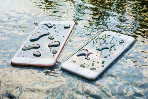 iphone dans eau