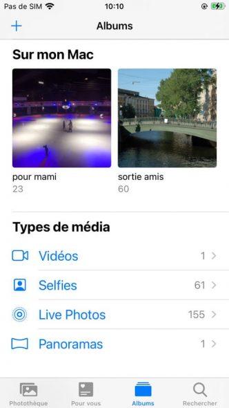albums téléchargées sur iPhone