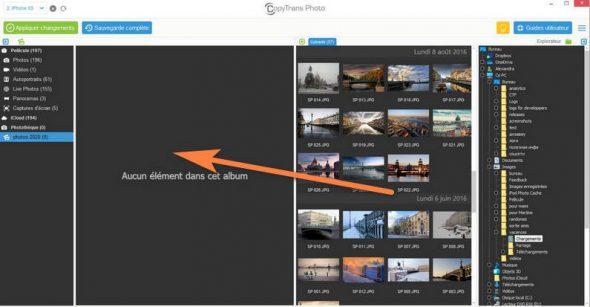 Glisser déposer photos du PC sur iPhone