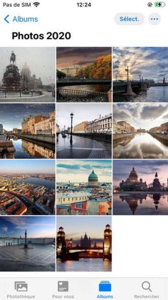 Photos dans la galerie iPhone