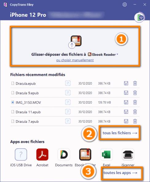 sauvegarder les documents des applications iOS
