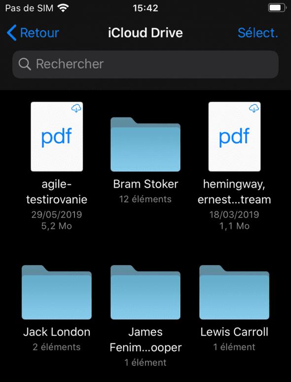 iCloud Drive sur iphone