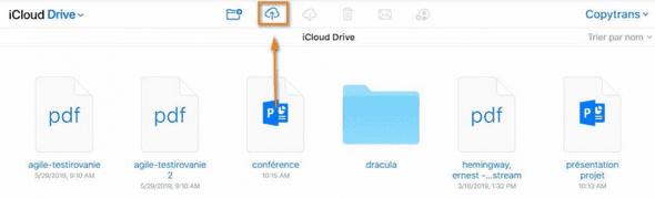 ajouter ficihiers iPhone à iCloud Drive