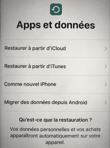 Restaurer iPhone à partir d'un cloud