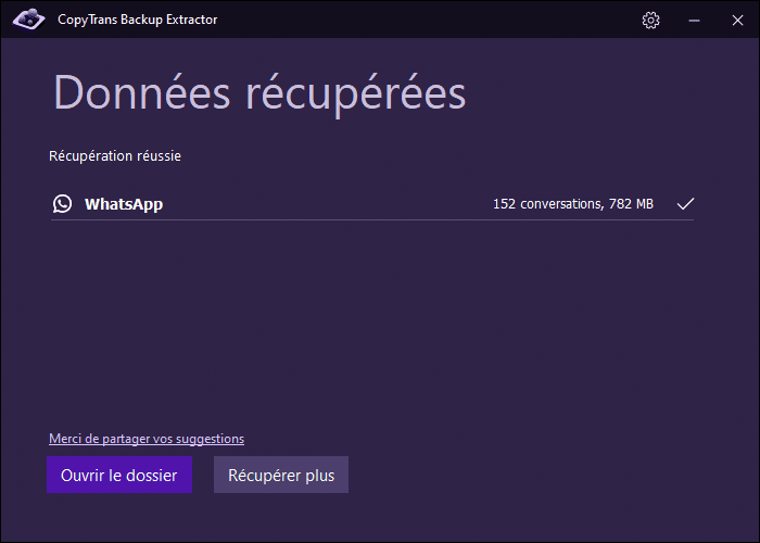 conversations WhatsApp sur le PC