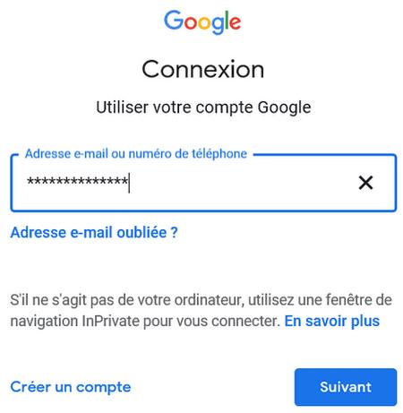 Identifiant Google