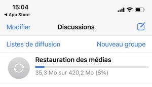 Restauration des discussions WhatsApp sur iPhone