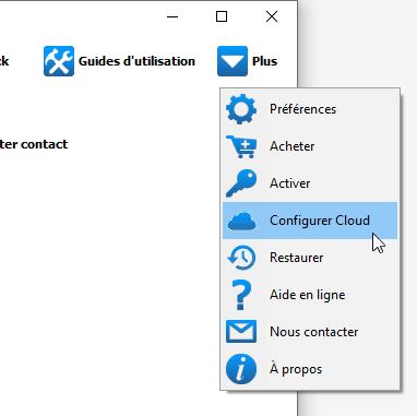 Configurer un compte iCloud dans CTC