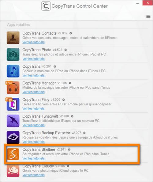 Rédemarrer iPhone avec CopyTrans