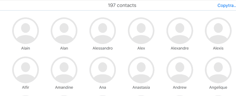 contacts iPhone synchronisés iCloud