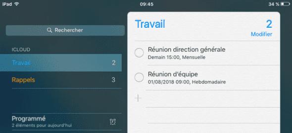 synchroniser rappels iPhone avec iCloud