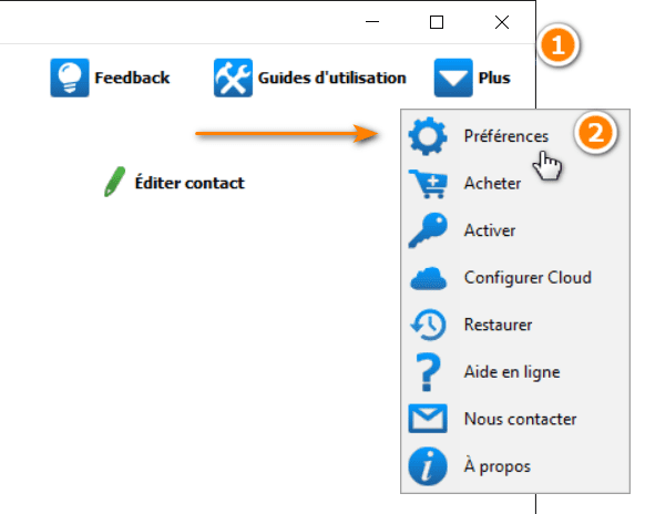 comment activer les rappels iPhone dans CopyTrans Contacts