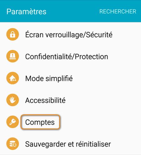 accédez aux comptes de votre Android