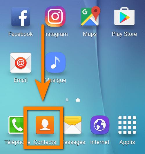 commencez le transfert des contacts Android