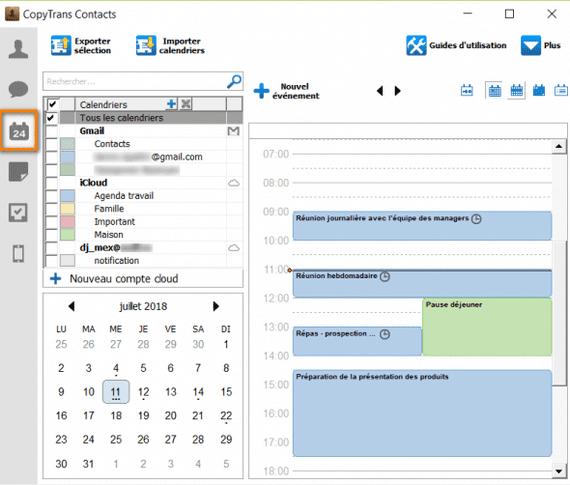 accéder aux calendriers iPhone depuis votre ordinateur
