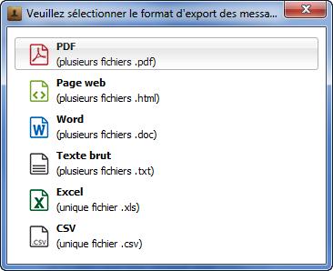 choisir le format d'export pour vos messages Viber