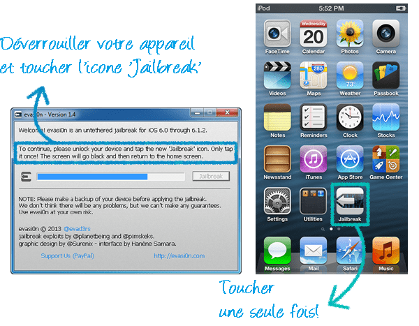 acceptez le jailbreak iPhone sur votre appareil