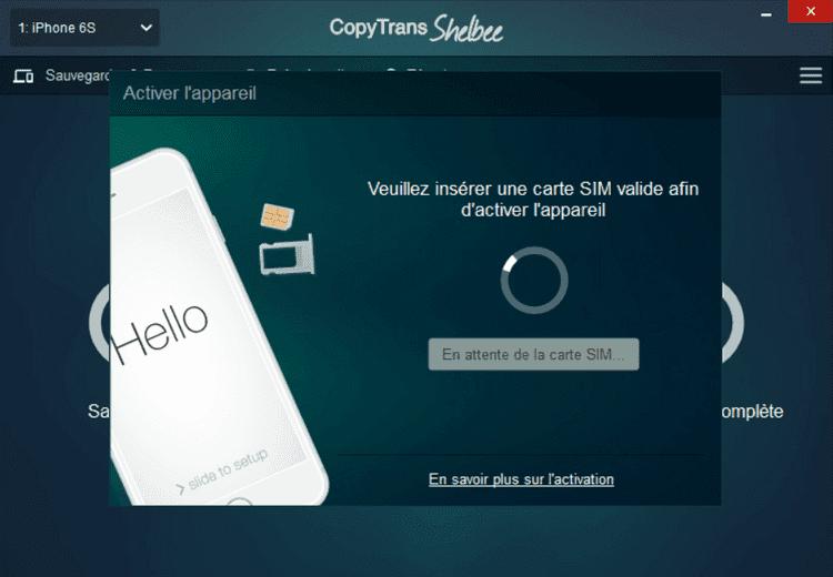Insérer une carte SIM pour activer iPhone
