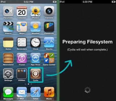 Lancez le logiciel jailbreak sur votre iPhone