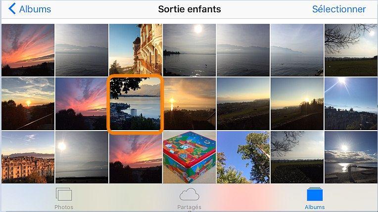 Voir tous les photos triées sur iPad