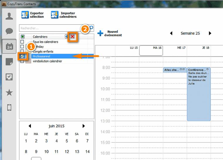 comment supprimer un calendrier iPhone