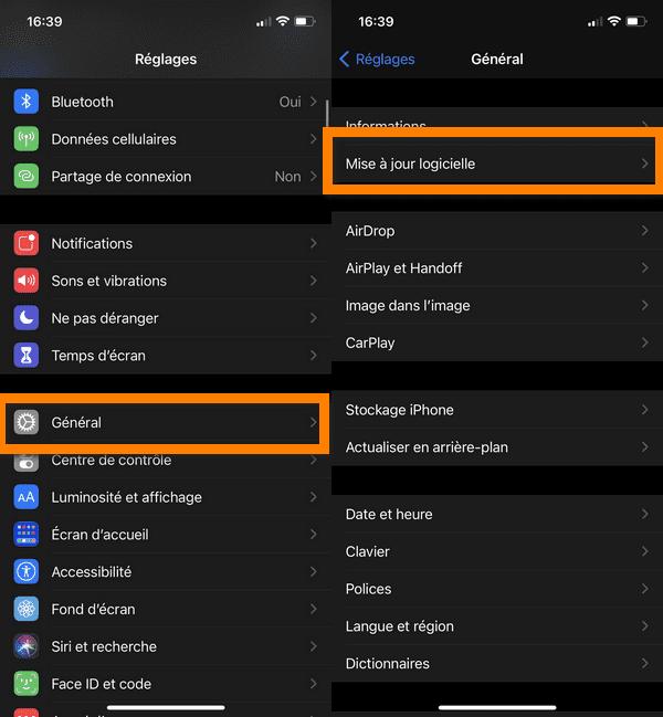 corriger les erreurs iTunes en mettant à jour votre iOS