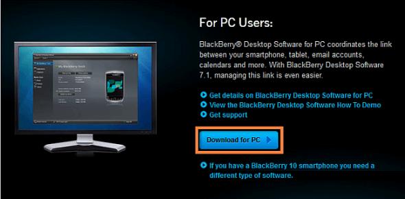 Transférer contacts Windows vers BlackBerry