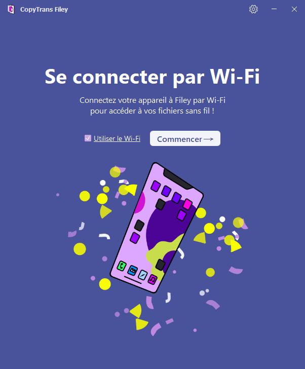 Activer option wifi sur le page d acceuil