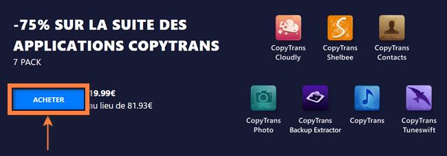 Acheter CopyTrans 7 Pack en ligne