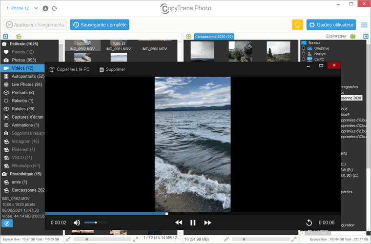 Regarder les vidéos de l'iPhone sur votre PC