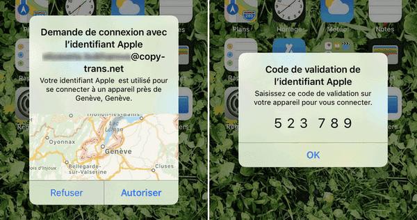 laissez CopyTrans Cloudly accéder à votre iCloud