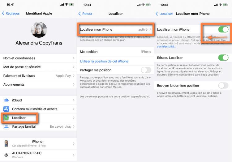 supprimer localiser mon iphone pour contourner vérouillage iCloud