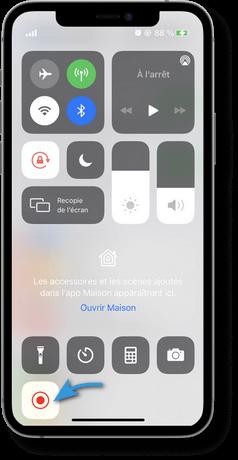 Demarrer l enregistrement d ecran sur iPhone