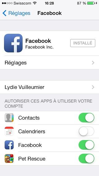synch facebook contact