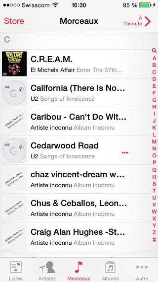 musique dans iphone