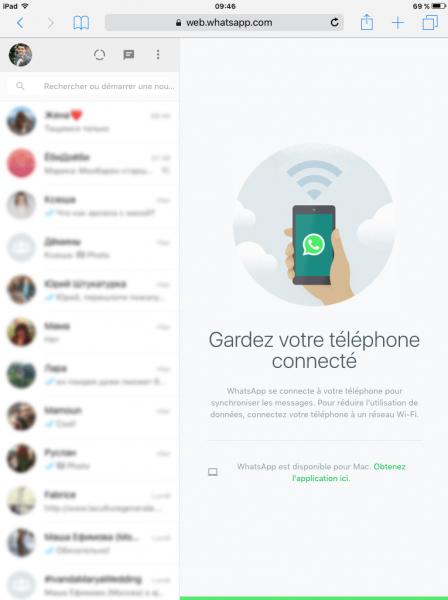 Utiliser WhatsApp sur votre iPad