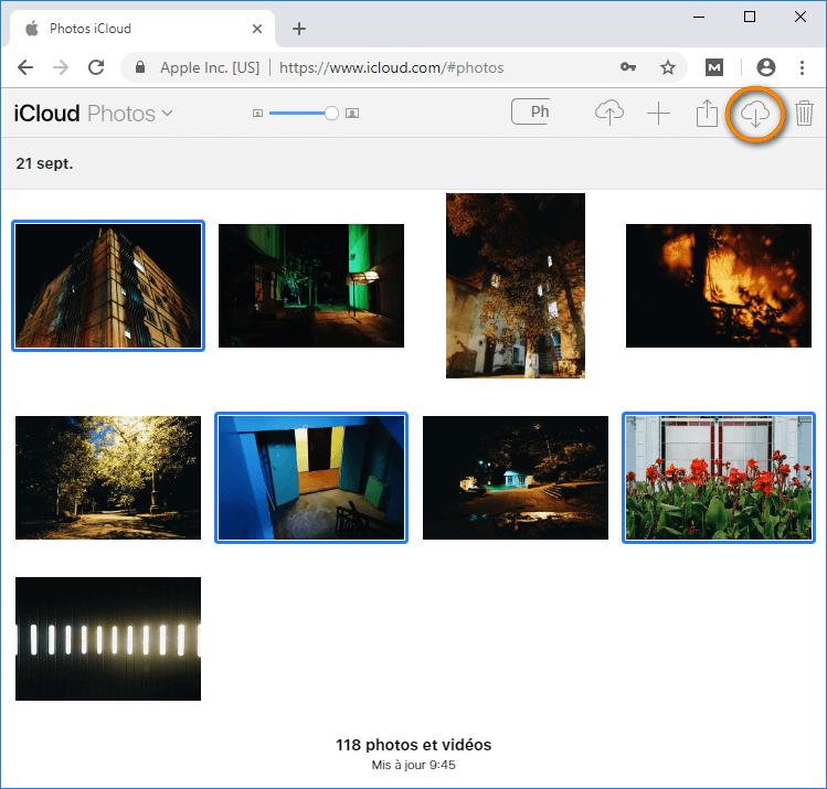 Sauvegarder photos iCloud