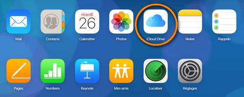 iCloud Drive depuis icloud.com