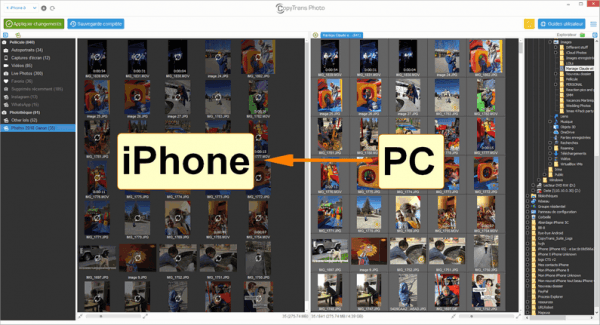 Importer les photos du PC vers iPhone