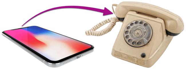 Vieux téléphone vers nouveau téléphone