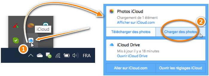 Charger des photos via iCloud pour Windows