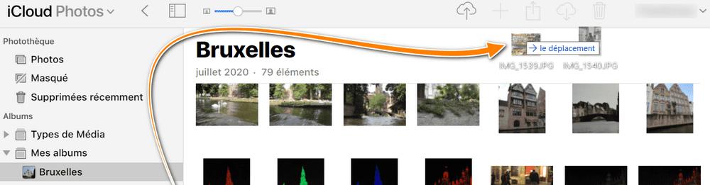 Glisser-déposer des photos PC vers iCloud.com