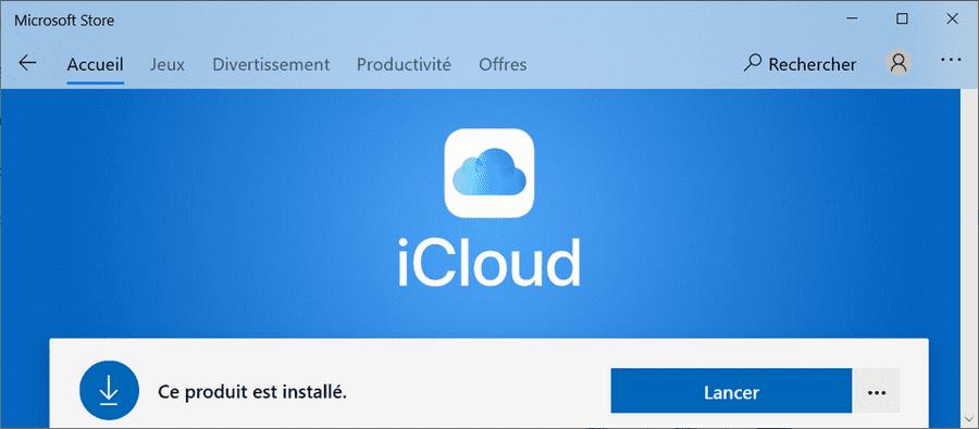 iCloud pour Windows (Microsoft Store)