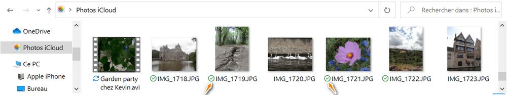 Chargement de photos terminé dans iCloud pour Windows
