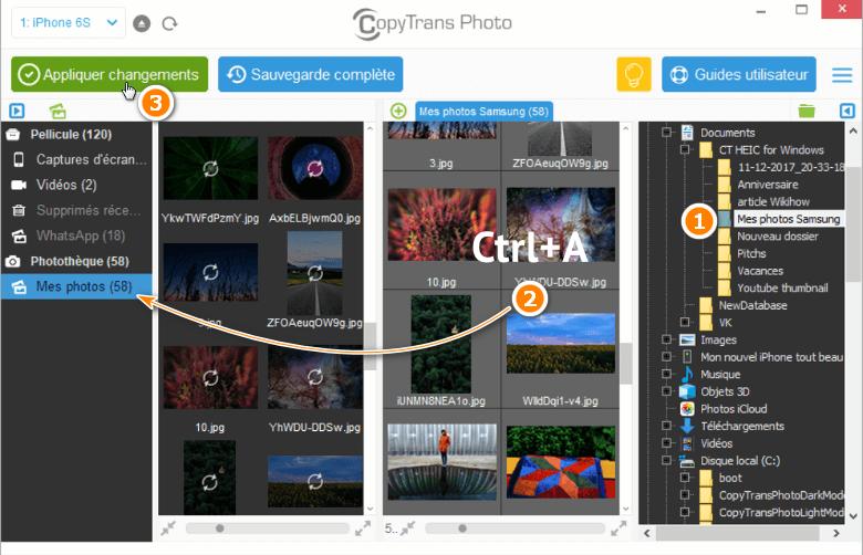 Copier les photos du PC vers un album iPhone