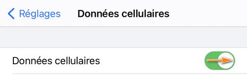 Activer les données cellulaires sur iPhone