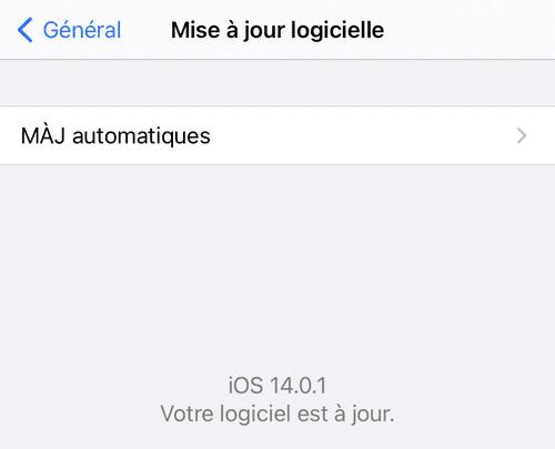 iOS à jour