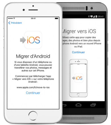 transfert données android vers iphone