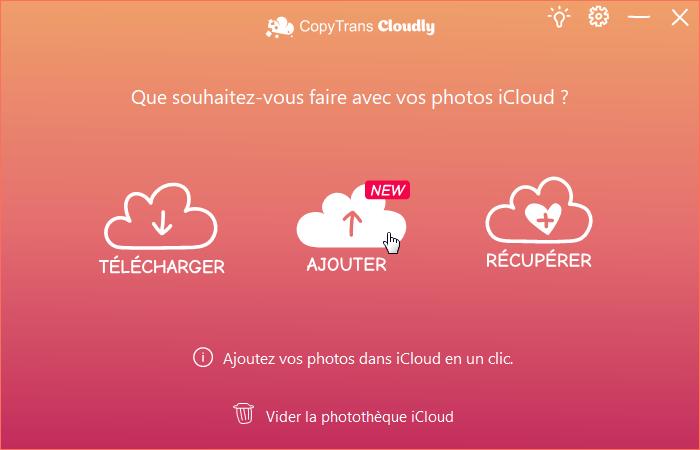 Mettre ses photos sur iCloud via CopyTrans Cloudly